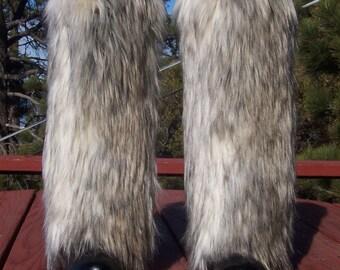 LegVogue Dynamite Faux Fur Leg Muffs