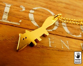 FOX Handmade Goldplated Sterling Silver .925 Necklace in a gift box