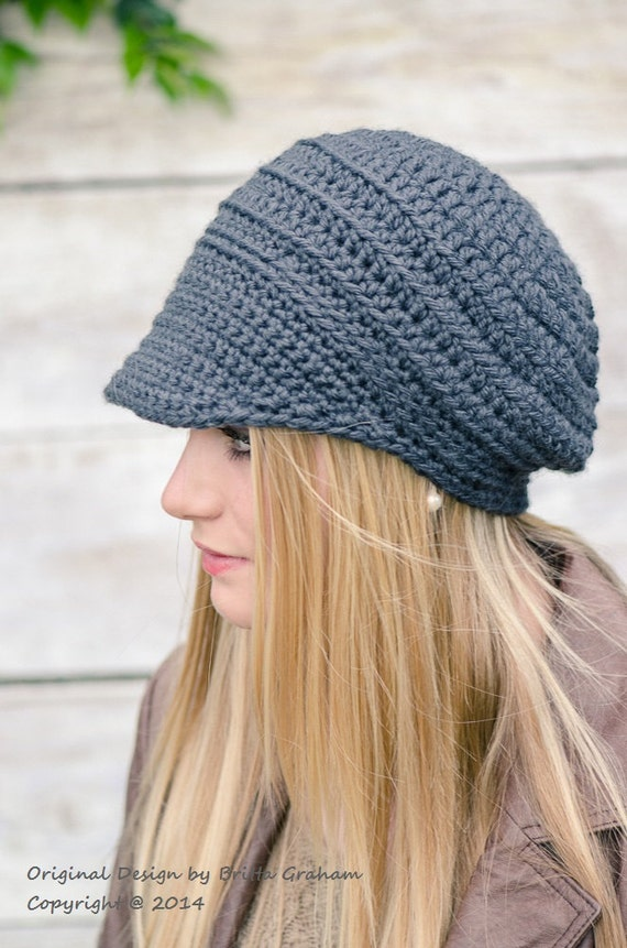 Items similar to Crochet Hat Pattern Newsboy Hat Crochet ...