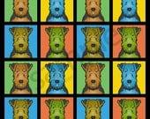 Welsh Terrier Cartoon Pop-Art T-Shirt Tee - Men's, Women's Ladies, Short, Long Sleeve, Youth Kids
