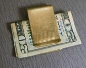 Brass money clip, handmade, four patterns, men's