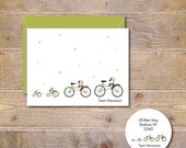Christmas Cards, Holiday Cards, Bikes, Bicycles, Tricycle, Christmas Card Set, Christmas, Cards