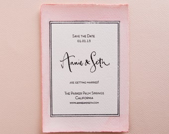 Calligraphy Save The Date Stamp with Modern Type