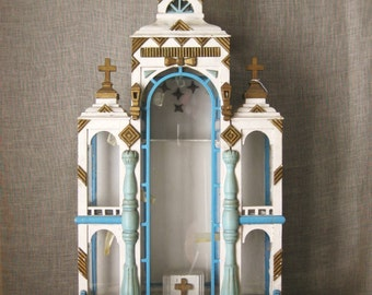 Religious Folk Art , Shrine , Antique , Late 18th Century , Folk Art Shrine , Religious Shrine , Architecture , Folk Art , European Folk Art