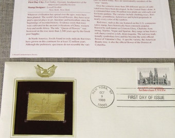 First Day Issue , Stamp , Architecture , Gold Stamp , Commemorative Stamp , Postage Stamp , Collectibles , Architectural , US Stamps , Post