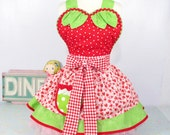 Strawberry Baby Doll Womens Apron