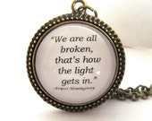 Hemingway Quote Necklace