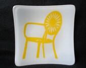 "UW Madison Memorial Union Chair 5"" x 5"" Dish"