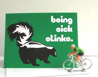 Get Well Skunk Card
