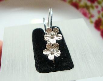 1 pair, 26x12 mm, Handmade 24K Gold Vermeil Sterling Silver 6mm Lotus Blossom Floral Earwires - EW-0014