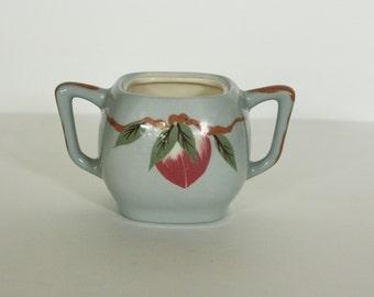 vintage weil ware sugar bowl mango pattern
