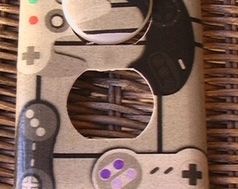Video Game Controllers  Outlet Cover Plate with Child Safety Plugs Switch Cover to match In Shop