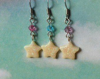 Starlight Star Earrings - Glow in the Dark Jewelry - Rave Kandi