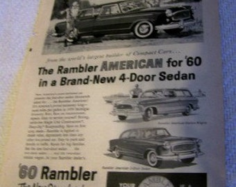 1960 Rambler American ad 1960's era.