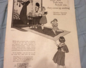 Jack tar togs circa Oct 1919 fashion dresses bloomers