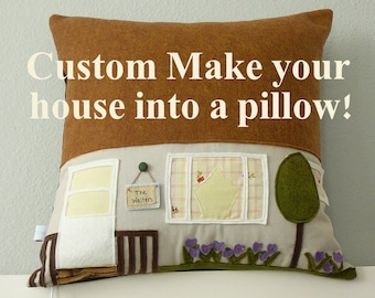 CUSTOMIZED House Pillow - Housewarming Gift - Custom Home Decor