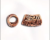 Solid Copper Beads Big Hole Beads Curved Tube Beads Genuine Copper Large Hole Bead 5 pcs. GC-230