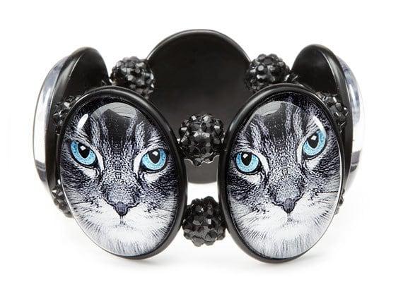 Tabby Cat Cameo Stretch Bracelet