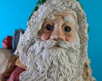 Santa Claus Figurine Father Christmas Santa Clause Legend Suzan Bradford Vintage United Design Corp Made USA Hand Painted Holiday Decoration