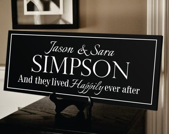 Personalized Family Name Sign Plaque Established Family Sign 8x24 Carved Engraved Wall Sign wedding or anniversary gift