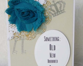 Wedding Something Old New Borrowed Blue Card