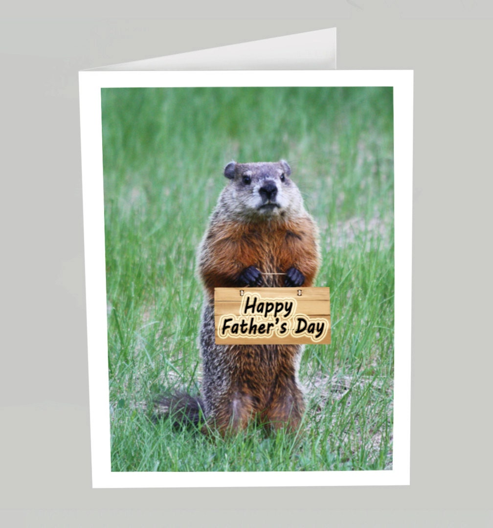 father u0027s day card happy father u0027s day funny groundhog