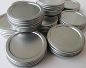 Ten 1/2 oz Metal Lip Balm Containers- Screwtop- FREE SHIPPING