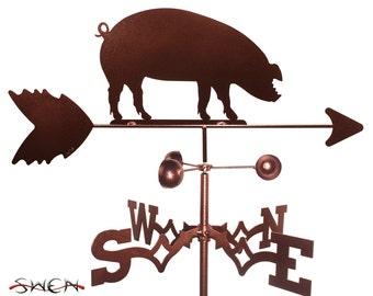 Hand Made Pig Hog Piggy Weathervane NEW