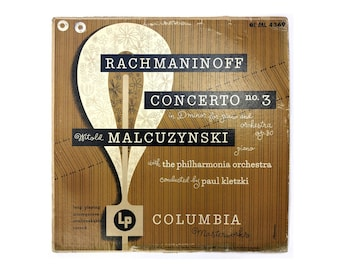 "Alex Steinweiss record album design, 1950. ""Witold Malcuzynski: Rachmaninoff Concerto No. 3"" LP"