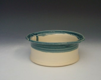Hand thrown stoneware pottery bowl  (AB-1)