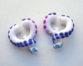 Rarity Tentacle Earring- Glitter- Purple -Blue- Lavender- My Little Pony