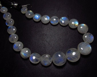 AA - High Quality Gorgeous - RAINBOW MOONSTONE - Smooth Polished Coin Briolettes Nice Flashy Fire Huge size - 8 - 13 mm - 21 pcs