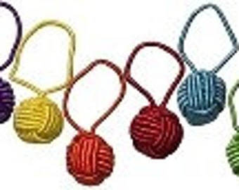 Hiya Hiya yarn ball stitch markers package of six