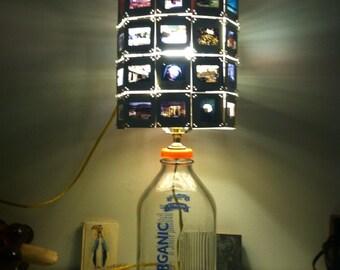 Vintage Kodachrome milk jug lamp