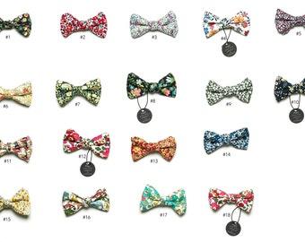 Pomp & Ceremony, Boy's clip on bow tie, Liberty of London prints