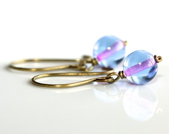 Blue and Pink Earrings - 'I See Pink'