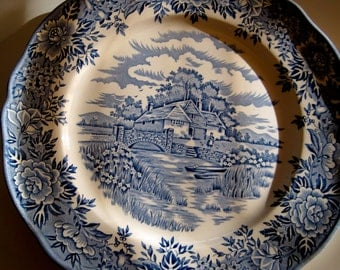ENGLISH VILLAGE by Salem China Company made in England set of 2 plates