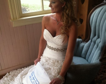 Something Blue -Large Bride Wedding Label - Large 3-4 inches wide x 10-14 inches long