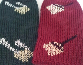 Hand Knitted Dobby Inspired Tube Slipper Socks ( Made to order), Gryffindor slipper socks, snitch slipper socks, dobby christmas gifts,