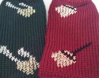Hand Knitted Dobby Inspired Tube Slipper Socks ( Made to order)