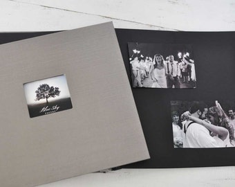 """Post-bound Photo Album with Black Pages 12""""x12"""" - by Claire Magnolia"""