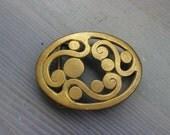 Swirly Brass Belt Buckle