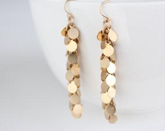 Gold Swing Earrings - Gia