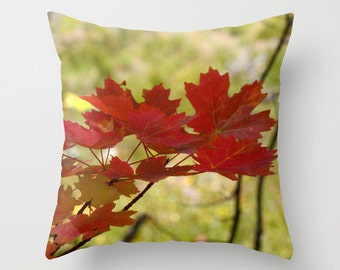 Autumn Leaves Pillow Cover, Throw Pillow, Cabin Decor