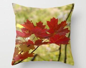 Autumn Leaves Pillow, Throw Pillow, Cabin Decor