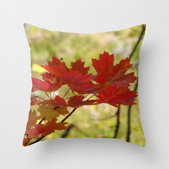 Autumn Throw Pillow Covers : Autumn Leaves Pillow Cover Throw Pillow Cabin Decor