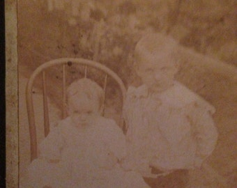 Vintage Photograph of two children