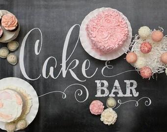 Chalkboard Cake Bar 24x36 Sign