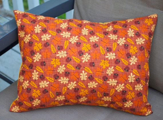 Fall Leaves Pillow Cover Decorative Toss Pillow Accent