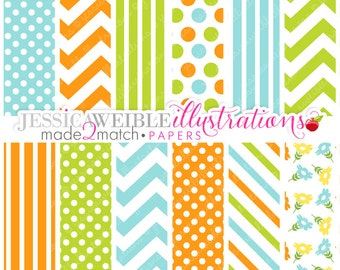 Made 2 Match: Easter Baby Boy Digital Papers - Commercial Use OK - Digital Papers, EASTER Baby Papers, Easter Backgrounds